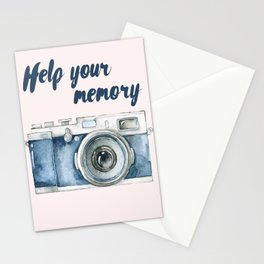 Help Your Memory Vintage Camera Stationery Cards