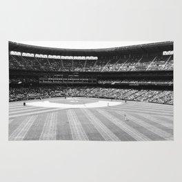 Safeco Field in Seattle Washington - Mariners baseball stadium in black and white Rug