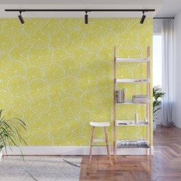 Lemon slices pattern design Wall Mural