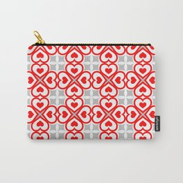 Red hearts pattern Carry-All Pouch