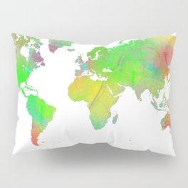World Map 7 Pillow Sham