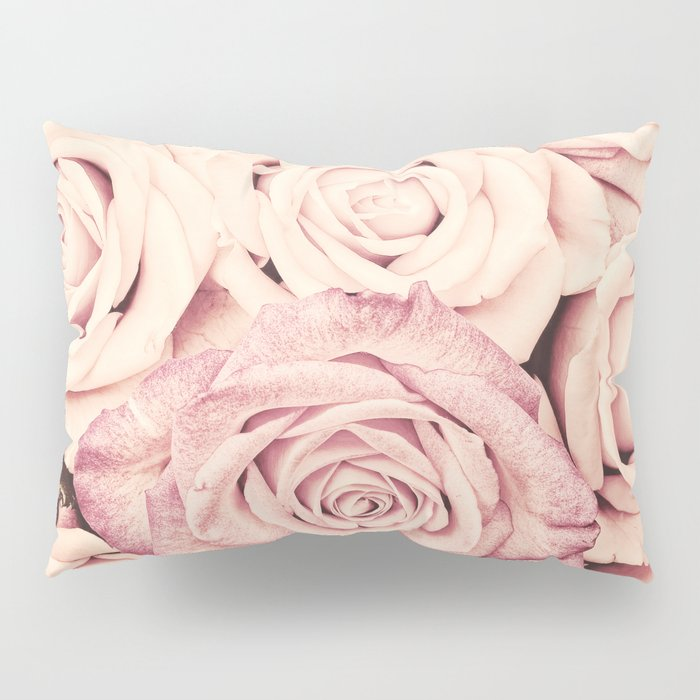 Some people grumble I Floral rose roses flowers pink Pillow Sham