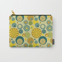Circle Frenzy - Yellow Carry-All Pouch