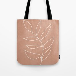Engraved Leaf Line Tote Bag