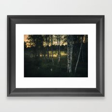 The silence in between Framed Art Print