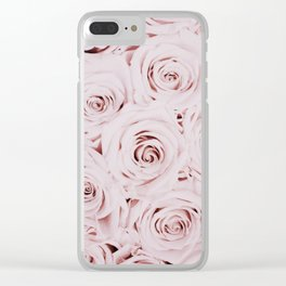 Flowers, Roses, Neutral, Minimal, Modern, Wall art Clear iPhone Case