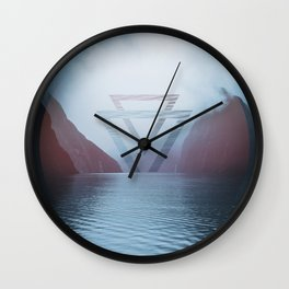 Geometric Milford Sound Wall Clock
