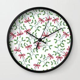 Meet me under the Mistletoe Wall Clock