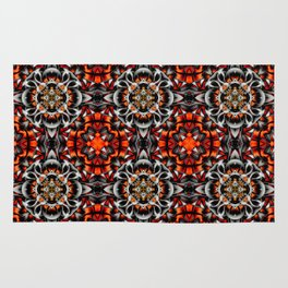 Abstract Perceptions in red Rug