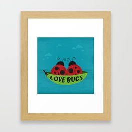 Love Bugs Framed Art Print
