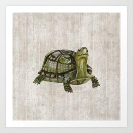 Little Turtle, Forest Animals, Woodland Decor, Woodland Art, Art Print