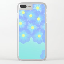 digital flowers Clear iPhone Case