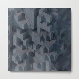 Concrete Abstract Metal Print