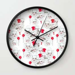 Pennywise Expressions Pattern Wall Clock