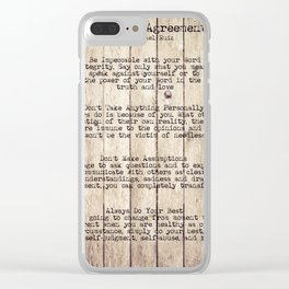 The Four Agreements 8 Clear iPhone Case