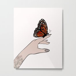Touch of the Monarch Metal Print