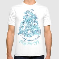 Plenty of Fish in the Sea Mens Fitted Tee SMALL White