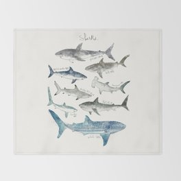 Sharks Throw Blanket