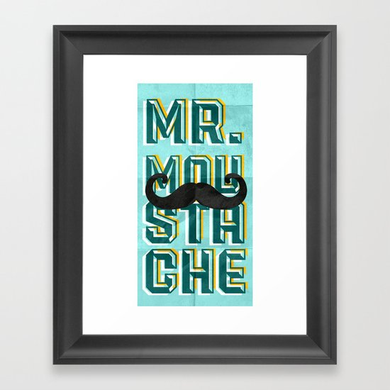 mr moustache Framed Art Print