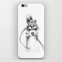 The Perseverance of a Puppy :: Siberian Husky iPhone Skin