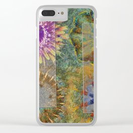 Rethank Weave Flower  ID:16165-002645-43931 Clear iPhone Case