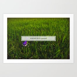 Avoiding tall grass Art Print