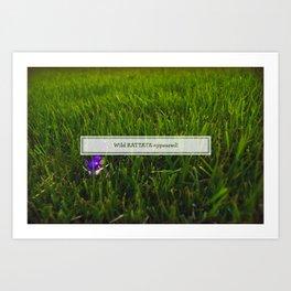 Avoiding tall grass Art Print