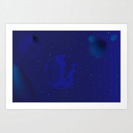 Galaxy Blur Art Print