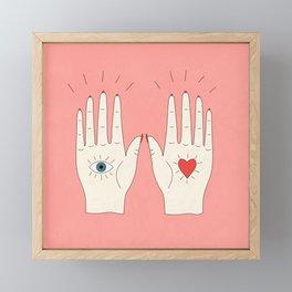 Raising Hands Framed Mini Art Print