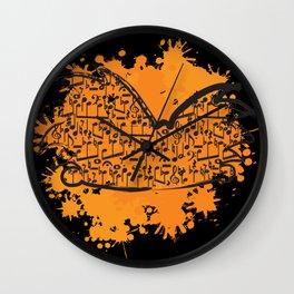 Musical Football Head Wall Clock