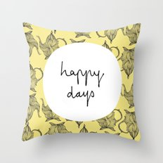 Happiest of Days Throw Pillow