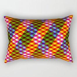 Shifting cubes Rectangular Pillow