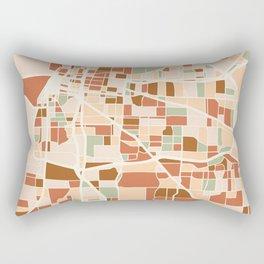 MEMPHIS TENNESSEE CITY MAP EARTH TONES Rectangular Pillow