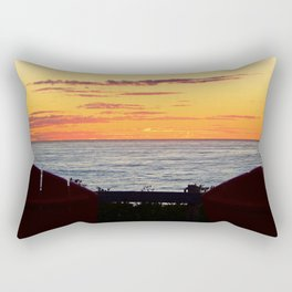 Sunset and the chairs Rectangular Pillow