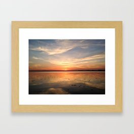 Reelfoot Lake West Tennessee Sunset Framed Art Print