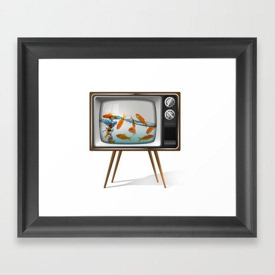 Fish Bowl TV _ 02 Framed Art Print