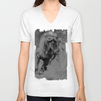 bull V-neck T-shirts featuring BULL by MikakoskArts