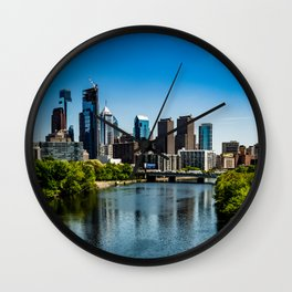 Philly down the River Wall Clock