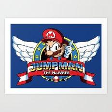 Jumpman the Plumber Art Print