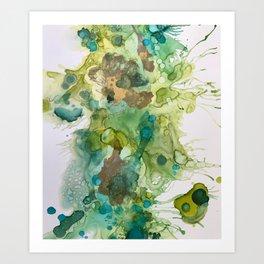 Lime Splash Art Print