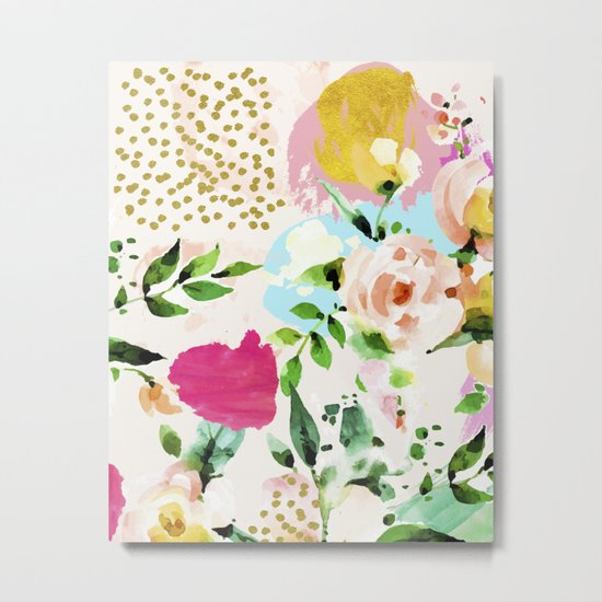 Floral Blush #society6 #decor #buyart Metal Print