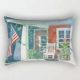 The Red Cottage Rectangular Pillow