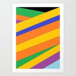 Roots - Colour Wrap Art Print