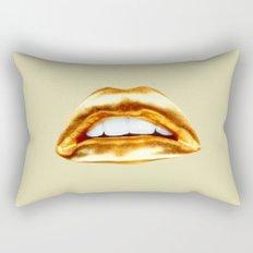 Golden lips Rectangular Pillow