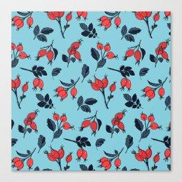 Red viburnum berries Canvas Print