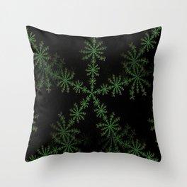 Neon black star pattern Throw Pillow