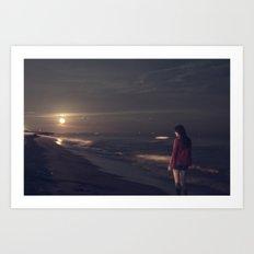 moon lover Art Print