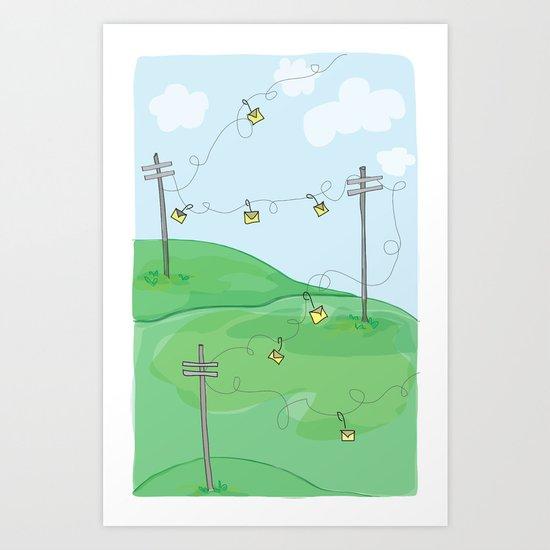 Hang a Message Art Print