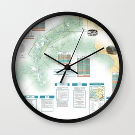 BLM - Detailed Rogue River Overview Map (2018) Wall Clock