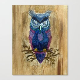 Perched Owl Canvas Print